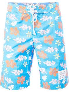 шорты для плавания с цветочным принтом Thom Browne