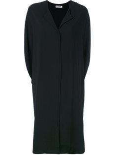 платье с v-образным вырезом  Jil Sander