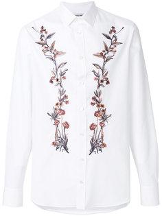 рубашка с вышитыми цветами Alexander McQueen