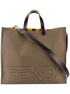 большая сумка-тоут с логотипом Fendi