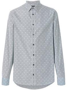 полосатая рубашка с узором из черепов Alexander McQueen