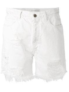 джинсовые шорты с бахромой  Faith Connexion