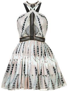 платье с вырезом халтер с принтом Sophie Theallet