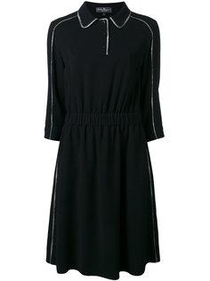 платье с контрастной окантовкой Salvatore Ferragamo