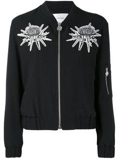 куртка бомбер с цветочными деталями Carven
