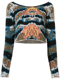 укороченный свитер с тигровым принтом Baja East