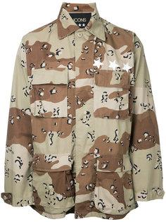 рубашка с камуфляжным принтом  Icons