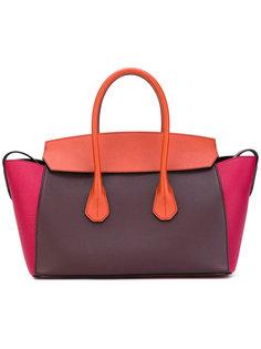 сумка в стиле колор-блок Bally