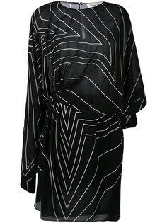 платье с рисунком Saint Laurent