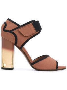 сандалии с тканевыми вставками Marni