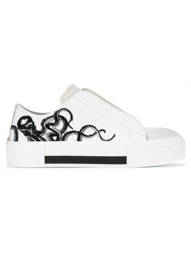 кроссовки с вышитым осьминогом  Alexander McQueen