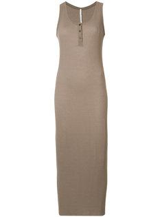 платье хенли в рубчик без рукавов Isabel Benenato