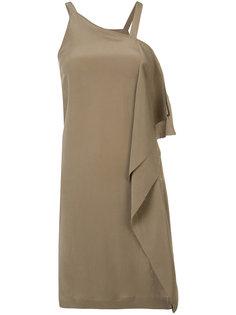 асимметричное платье с драпировкой Isabel Benenato
