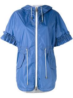 пальто с короткими рукавами и капюшоном Fay