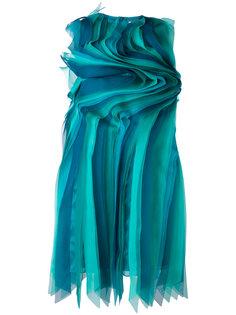 платье с волнистой отделкой Gianluca Capannolo