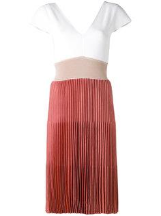 короткое платье с плиссированной юбкой Agnona