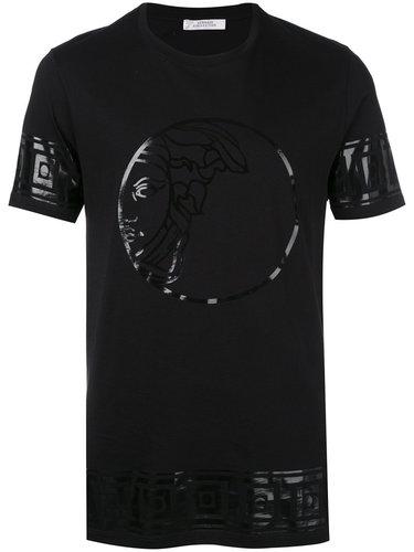 футболка с блестящим логотипом Versace Collection