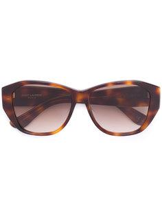 солнцезащитные очки с узором черепашьего панциря Saint Laurent Eyewear