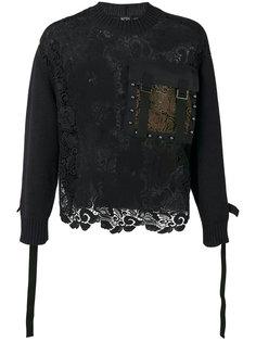 свитер с кружевной вставкой Nº21