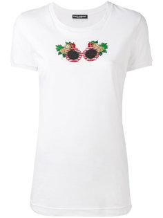 футболка с рисунком из бисера Dolce & Gabbana