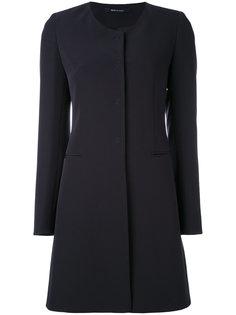 приталенное пальто без воротника Tagliatore