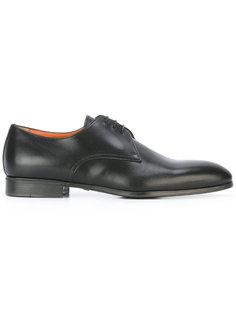 туфли на шнуровке с овальным носком  Santoni