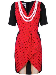 платье с принтом-иллюзией Moschino