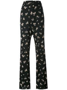 брюки с цветочным принтом Max Mara Studio