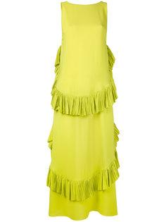 платье шифт с рюшами Nº21