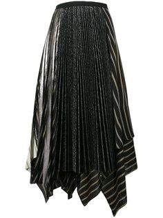 асимметричная плиссированная юбка Antonio Marras
