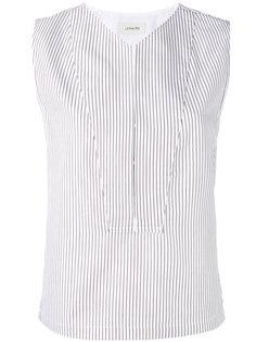 блузка в полоску без рукавов  Lemaire