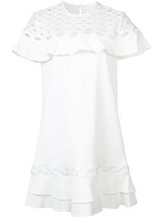 платье с аппликацией и оборками Jonathan Simkhai