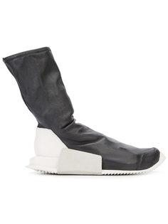 кроссовки с контрастной пяткой Rick Owens