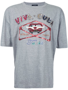 футболка с отделкой пайетками  Taakk