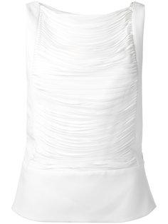 блузка плиссе без рукавов  Tom Ford