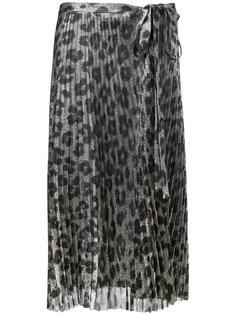 юбка плиссе с леопардовым принтом  Haider Ackermann