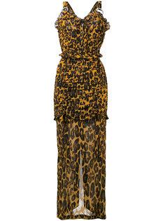 платье с леопардовым принтом Alessandra Rich
