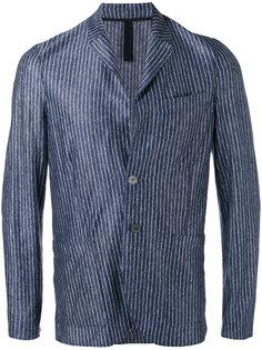 блейзер в полоску с накладными карманами Harris Wharf London