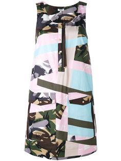 платье с камуфляжным принтом  Kenzo