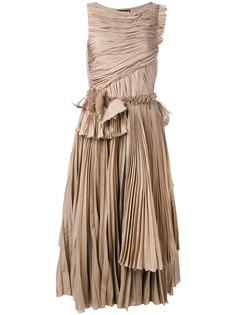 плиссированное расклешенное платье  Rochas