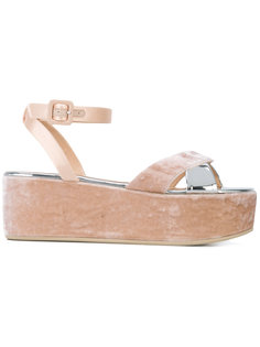 бархатные сандалии на платформе  Giuseppe Zanotti Design