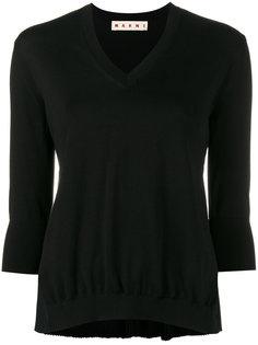 свитер с плиссированной спинкой Marni