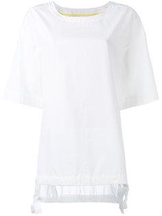 футболка с завязками по бокам DKNY