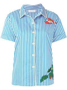 рубашка с короткими рукавами и вышивкой  Mira Mikati