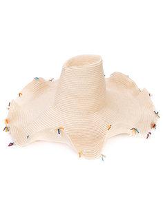шляпа с кисточками из бусин Rosie Assoulin