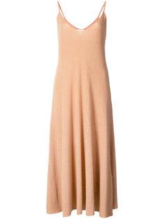 платье в рубчик с расклешенным подолом Ryan Roche