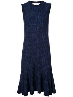 платье без рукавов с юбкой клеш  Carolina Herrera