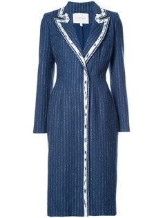 пальто с контрастными лацканами Carolina Herrera