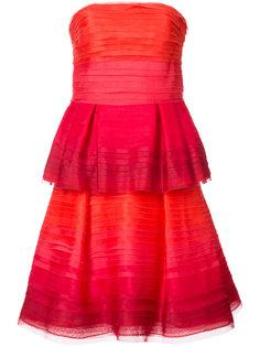 многослойное платье без бретелек Carolina Herrera