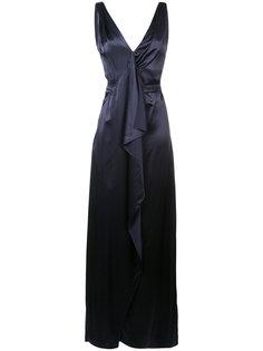 вечернее платье макси с оборками Carolina Herrera